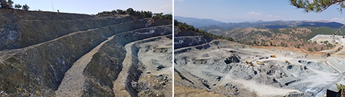 Open-pit mining started on October 2017